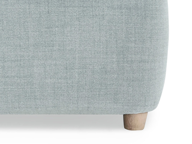 Jonesy upholstered sofa bed leg detail