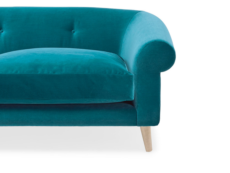 Schnaps tub style sofa front detail