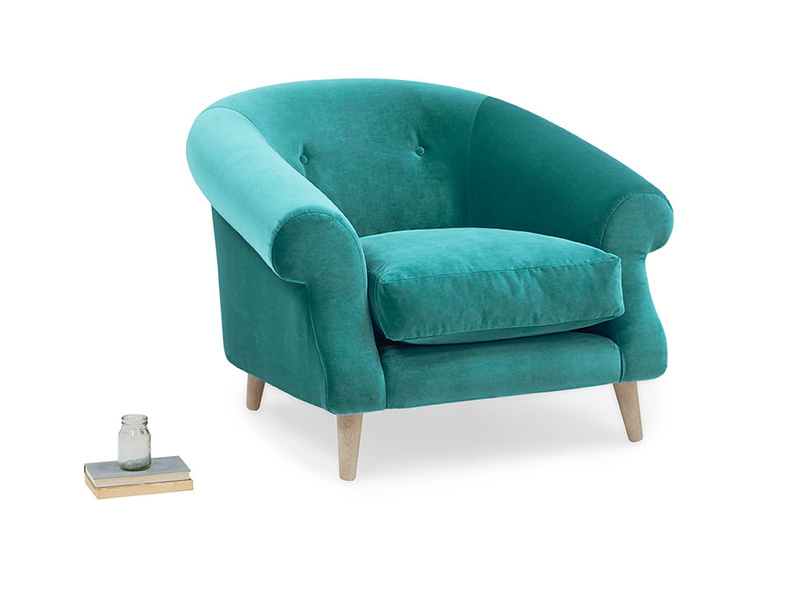 Schnaps upholstered tub love seat