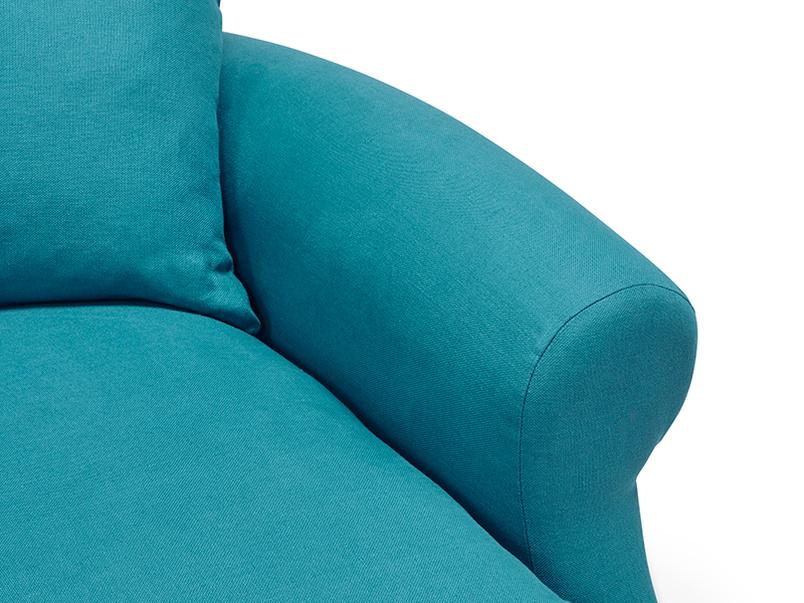 Crumpet British made sofa bed arm detail