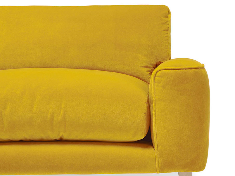 Strudel upholstered sofa front detai