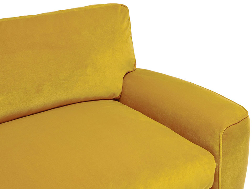 Strudel low arm upholstered sofa