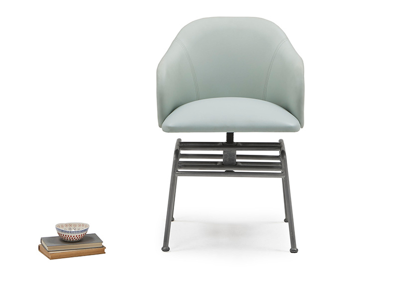 Milkshake adjustable dining chair in Duck Egg blue