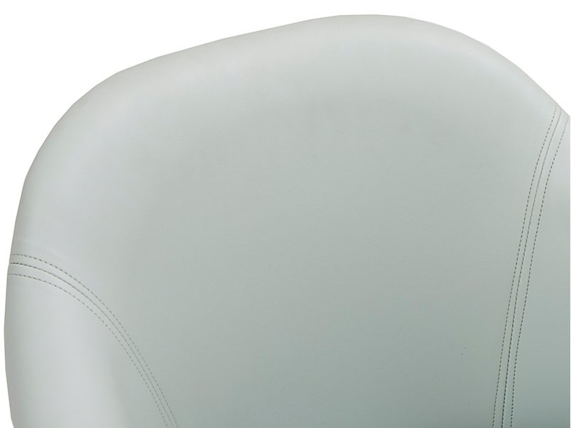 Milkshake leather retro kitchen chair in Duck Egg blue