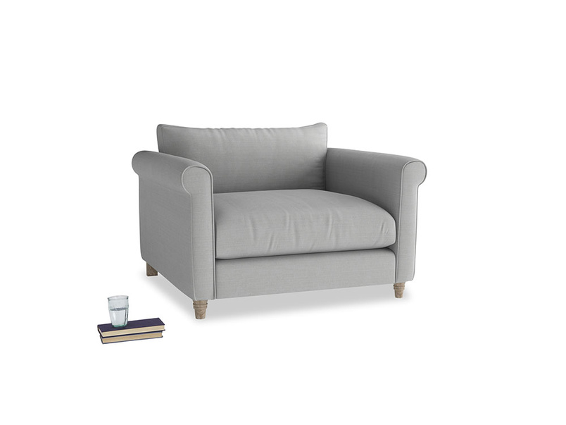Love Seat Weekender Love seat in Pewter Clever Softie