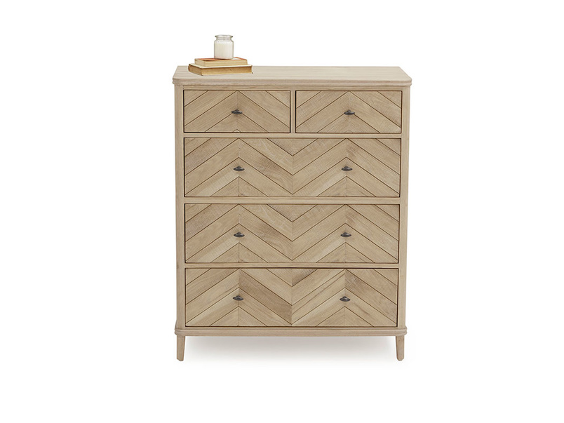 Young Flapper parquet style chest of drawers