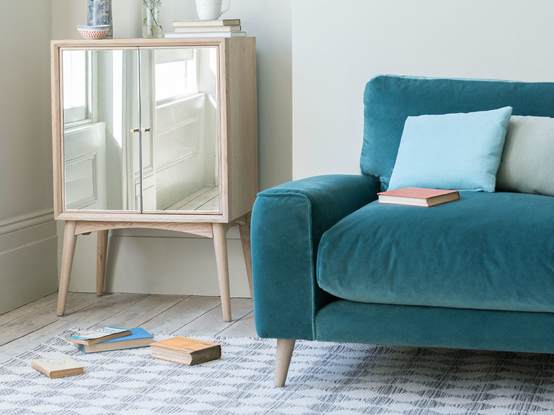 contemporary low arm love seat