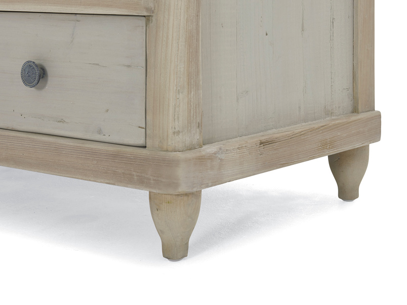 Apeldoorn Medium and large grey painted chest of drawers in a two tone finish