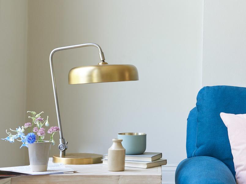 Biblio brass bedside lamp