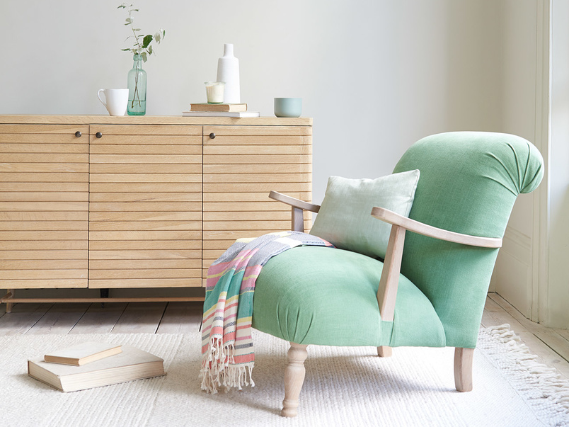 Brew wooden arm armchair