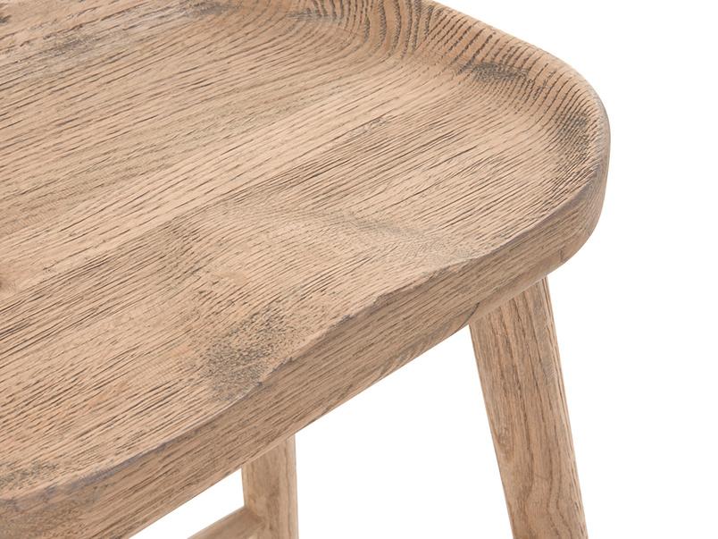 Stylish British made wooden kitchen stool