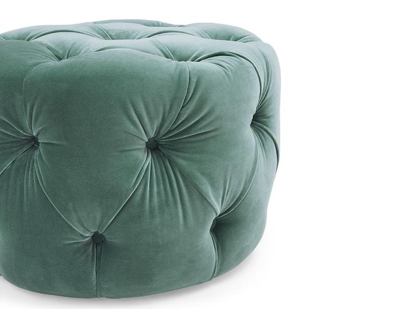Gumdrop round button footstool