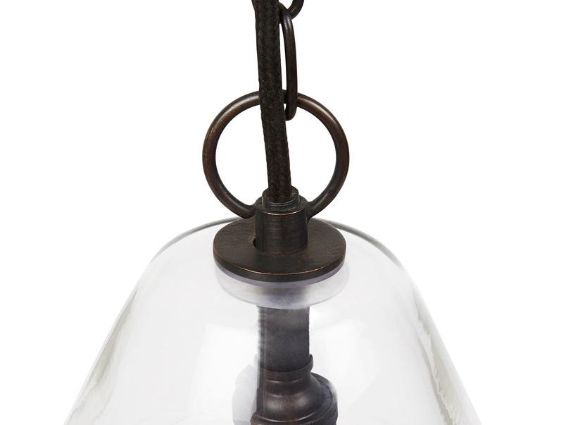 Raindrop glass pendant light detail