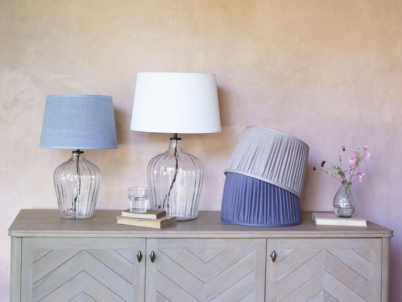 Flute glass bedside lamp range