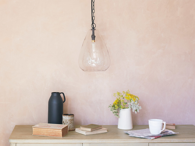 Raindrop glass pendant lamp