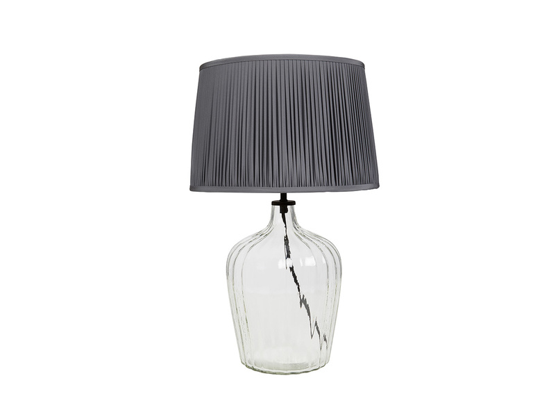 Medium Flute Table Lamp with Graphite shade