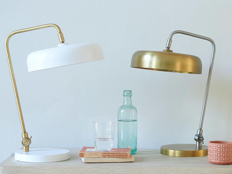 Biblio brass table lamp range