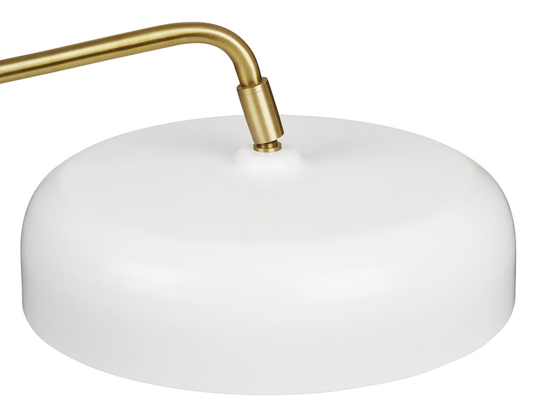 Biblio white brass table lamp