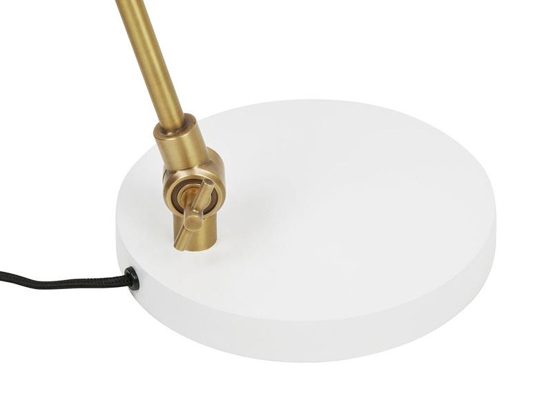 Biblio white bedsdie lamp base detail