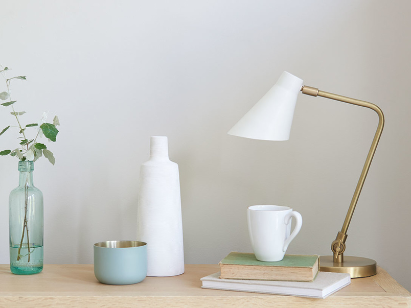 Downtime brass desk lamp
