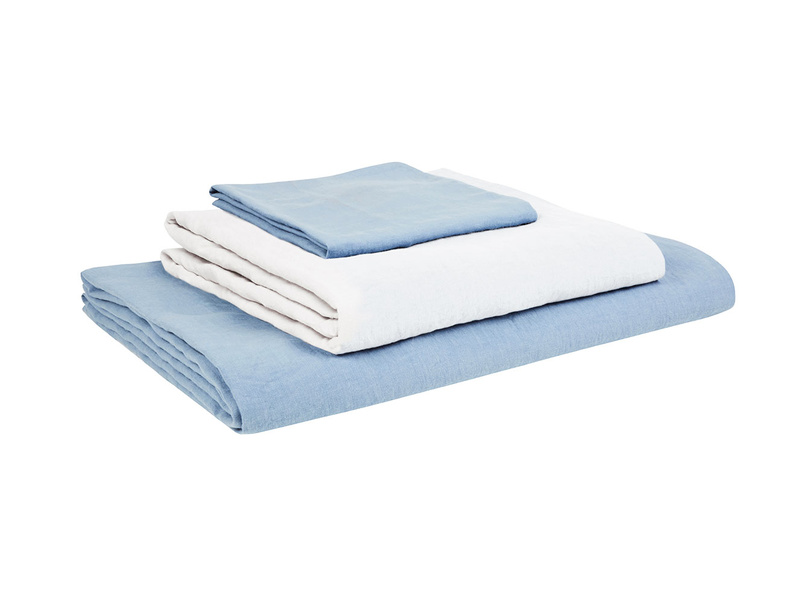 Double Lazy Linen Duvet cover in Cornflower Blue