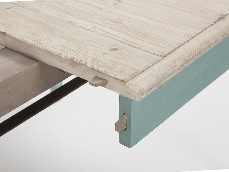 Tucker extendable kitchen table leaf detail