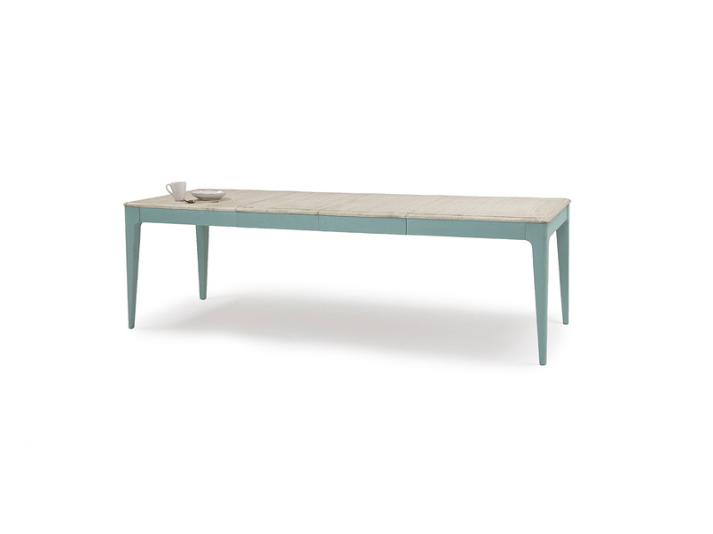 Tucker extending painted wood kitchen table