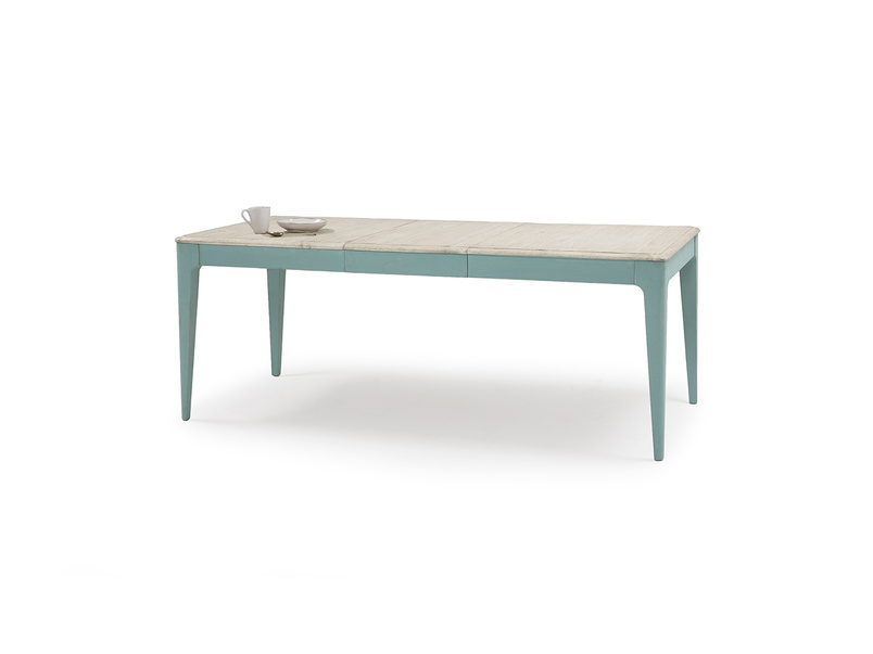 Tucker extendable painted wood kitchen table