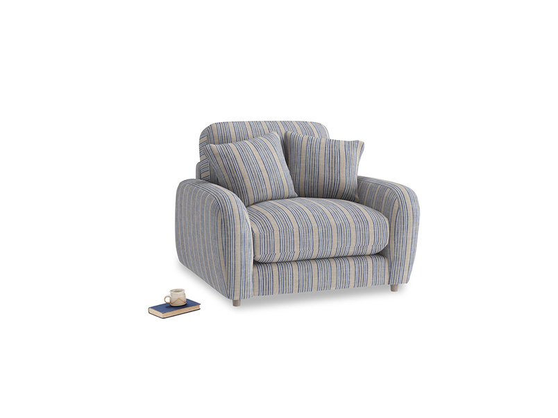 Easy Squeeze Armchair in Brittany Blue french stripe
