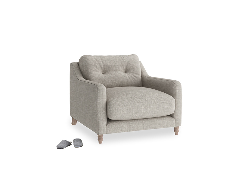 Slim Jim Armchair in Grey Daybreak Laundered Linen