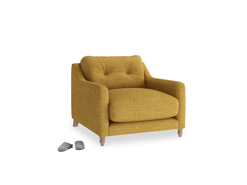 Slim Jim Armchair in Mellow Yellow Laundered Linen