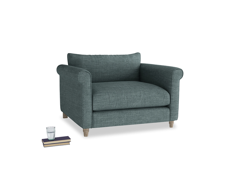 Love Seat Weekender Love seat in Anchor Grey Clever Laundered Linen