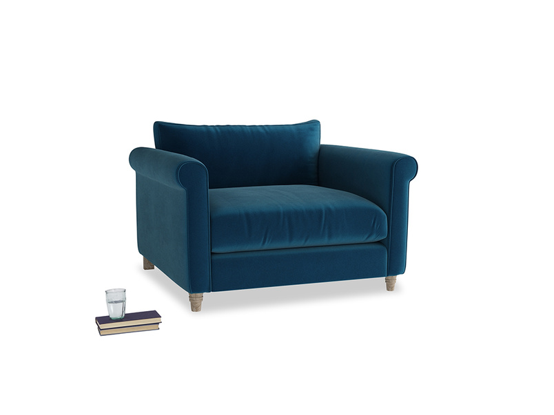 Love Seat Weekender Love seat in Berlin Blue Clever Deep Velvet