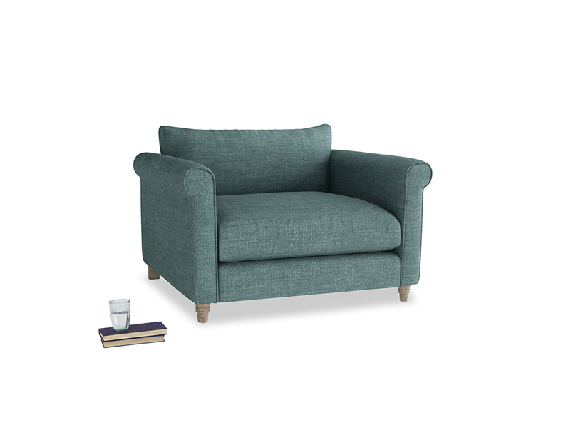Love Seat Weekender Love seat in Blue Turtle Clever Laundered Linen