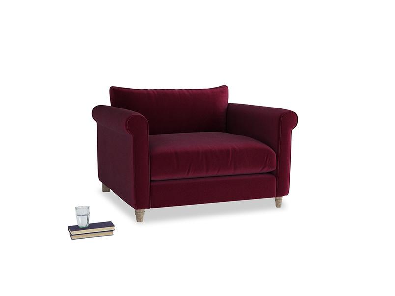 Love Seat Weekender Love seat in Merlot Plush Velvet