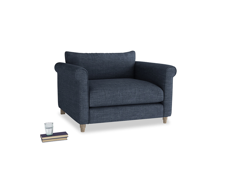 Love Seat Weekender Love seat in Selvedge Blue Clever Laundered Linen