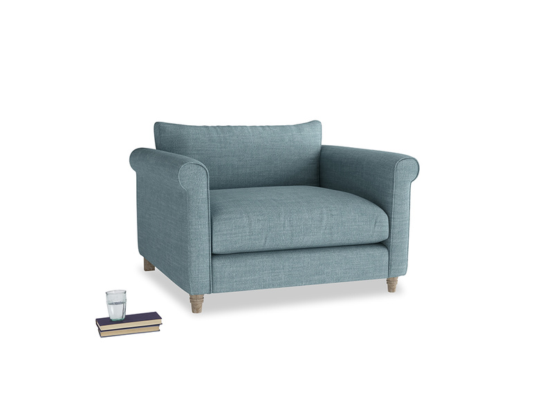 Love Seat Weekender Love seat in Soft Blue Clever Laundered Linen