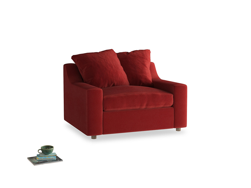 Love Seat Sofa Bed Cloud love seat sofa bed in Rusted Ruby Vintage Velvet