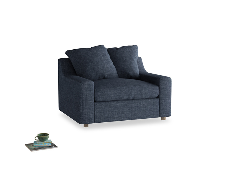 Love Seat Sofa Bed Cloud love seat sofa bed in Selvedge Blue Clever Laundered Linen