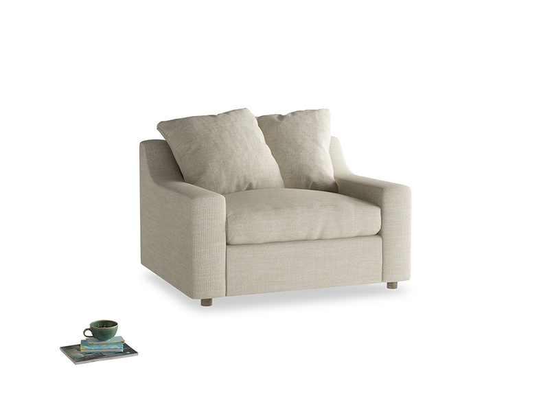 Love Seat Sofa Bed Cloud love seat sofa bed in Shell Clever Laundered Linen