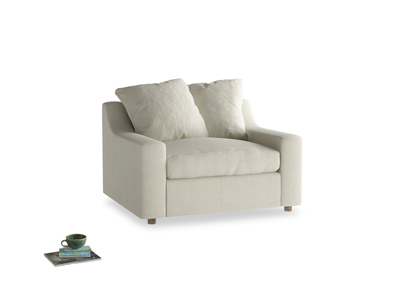 Love Seat Sofa Bed Cloud love seat sofa bed in Stone Vintage Linen