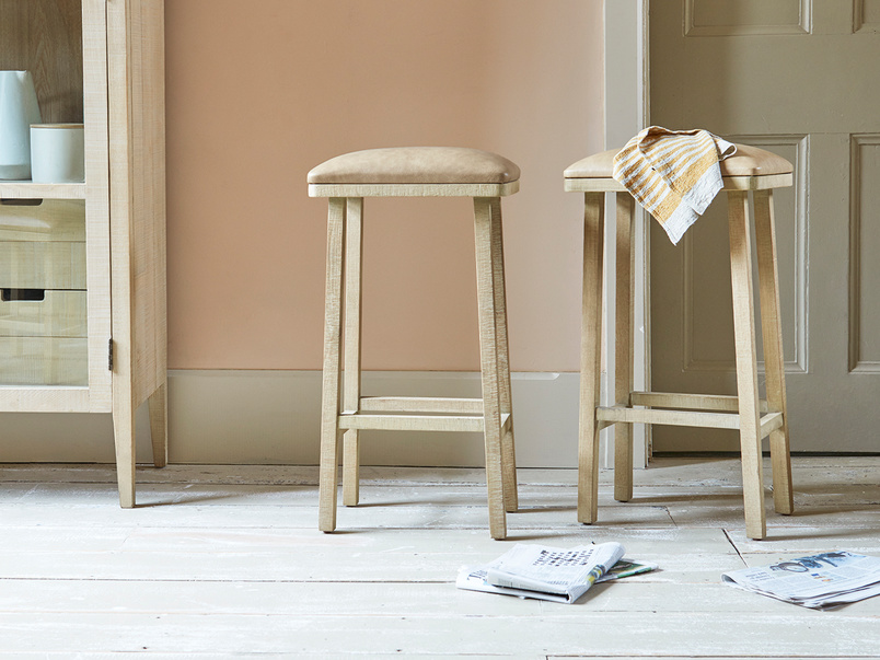 Tall Bumpkin leather kitchen bar stool
