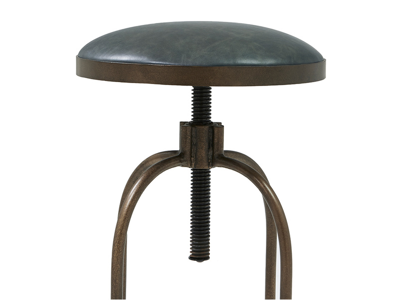 Breakfast adjustable leather top kitchen stool