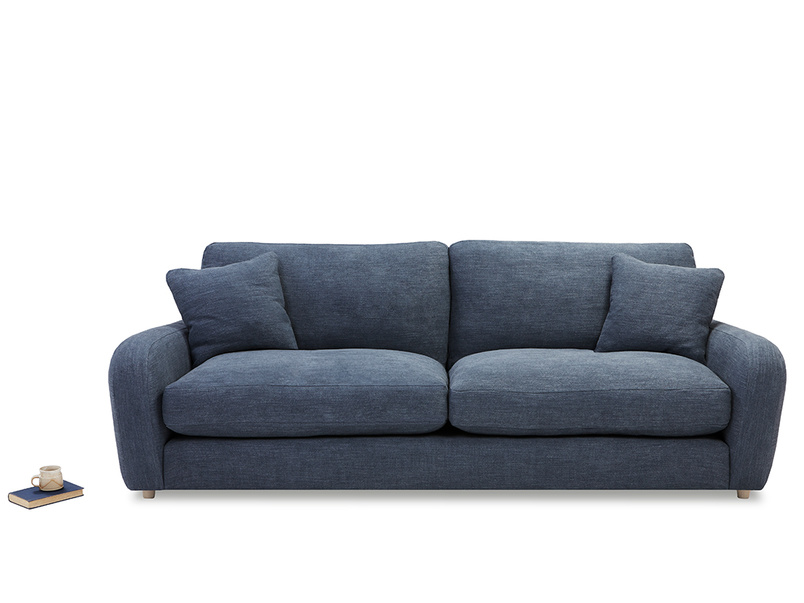 Easy squeeze comfy upholstered sofa