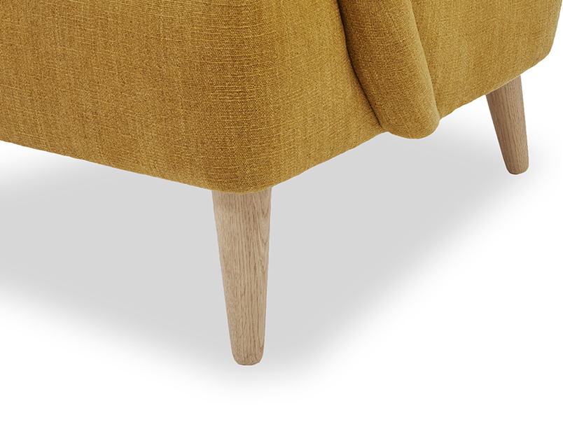 Diggidy occasional bedroom chair leg detail