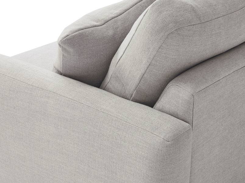Easy Squeeze love seat comfy upholstered side detail