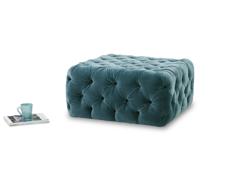 Ooop a Lazy upholstered footstool coffee table