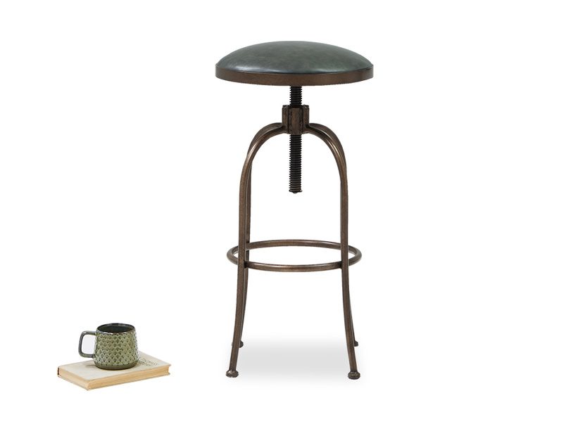 Breakfast leather bar stool
