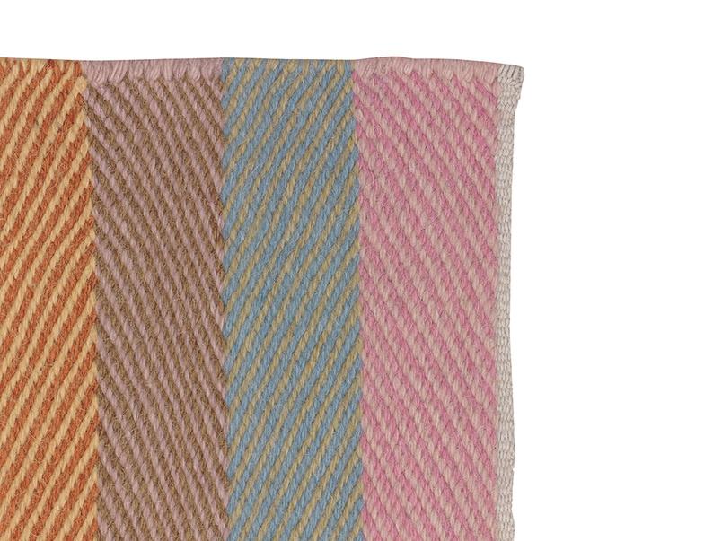 Herringbone Tuppence striped woven handmade rug
