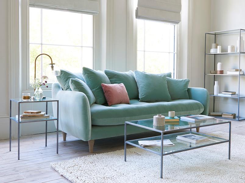 Skinny Minny slim buttoned sofa